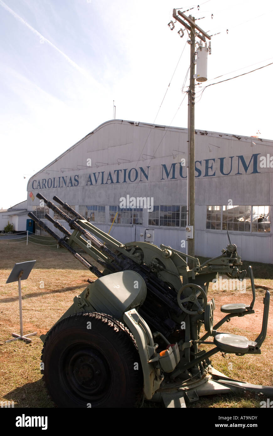 Carolinas Aviation Museum in Charlotte NC USA Stock Photo