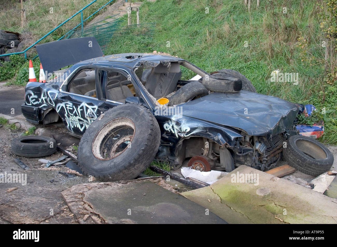 Wrecked Car High Resolution Stock Photography and Images - Alamy