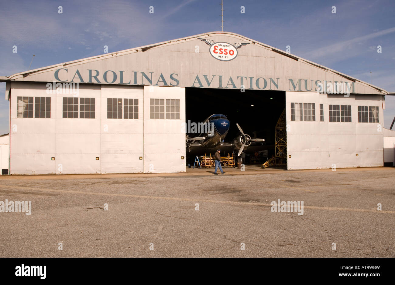 Carolinas Aviation Museum in Charlotte NC USA - Stock Image