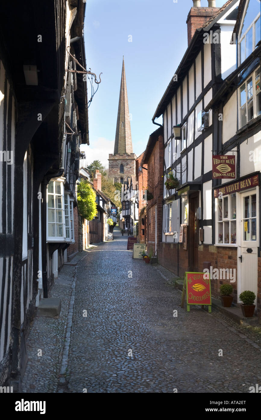 Church Lane, Ledbury, Herefordshire - Stock Image