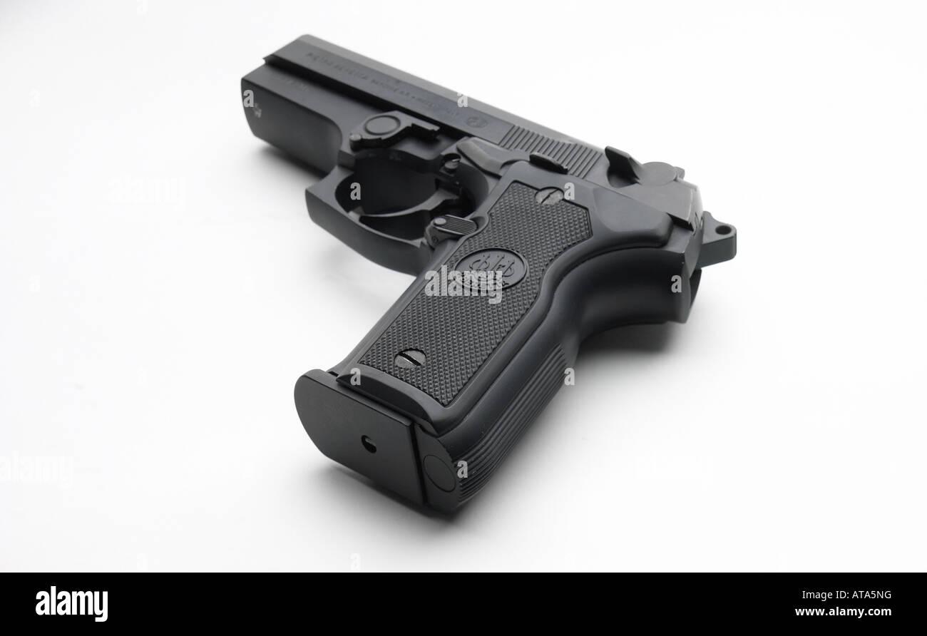 gun on white background - Stock Image
