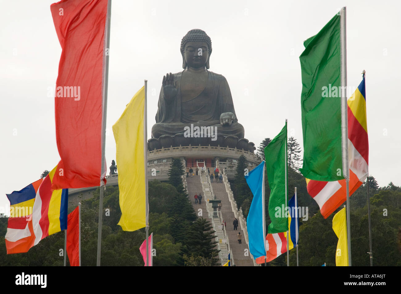 Tian Tan Buddha, Ngong Ping, Lantau, Hong Kong, Peoples' Republic of China. - Stock Image