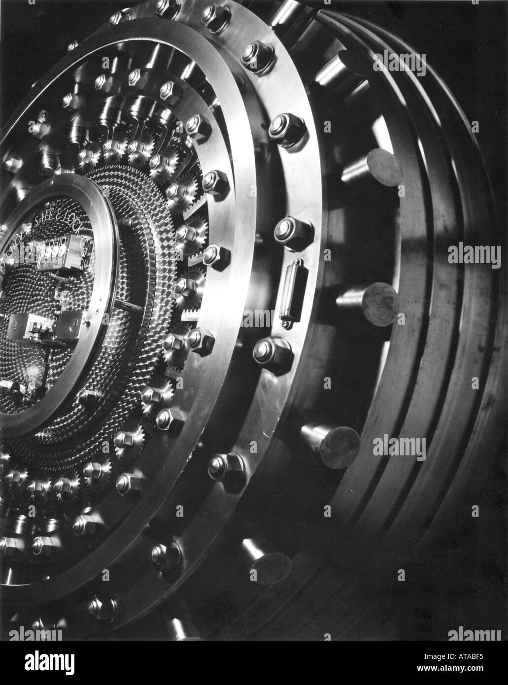 Bank vault door - Stock Image