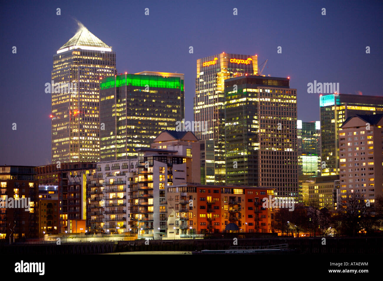 Canary Wharf, Docklands, London - Stock Image