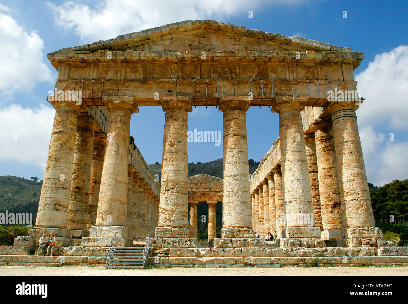 Doric temple at Segesta, Sicily, Italy. - Stock Image