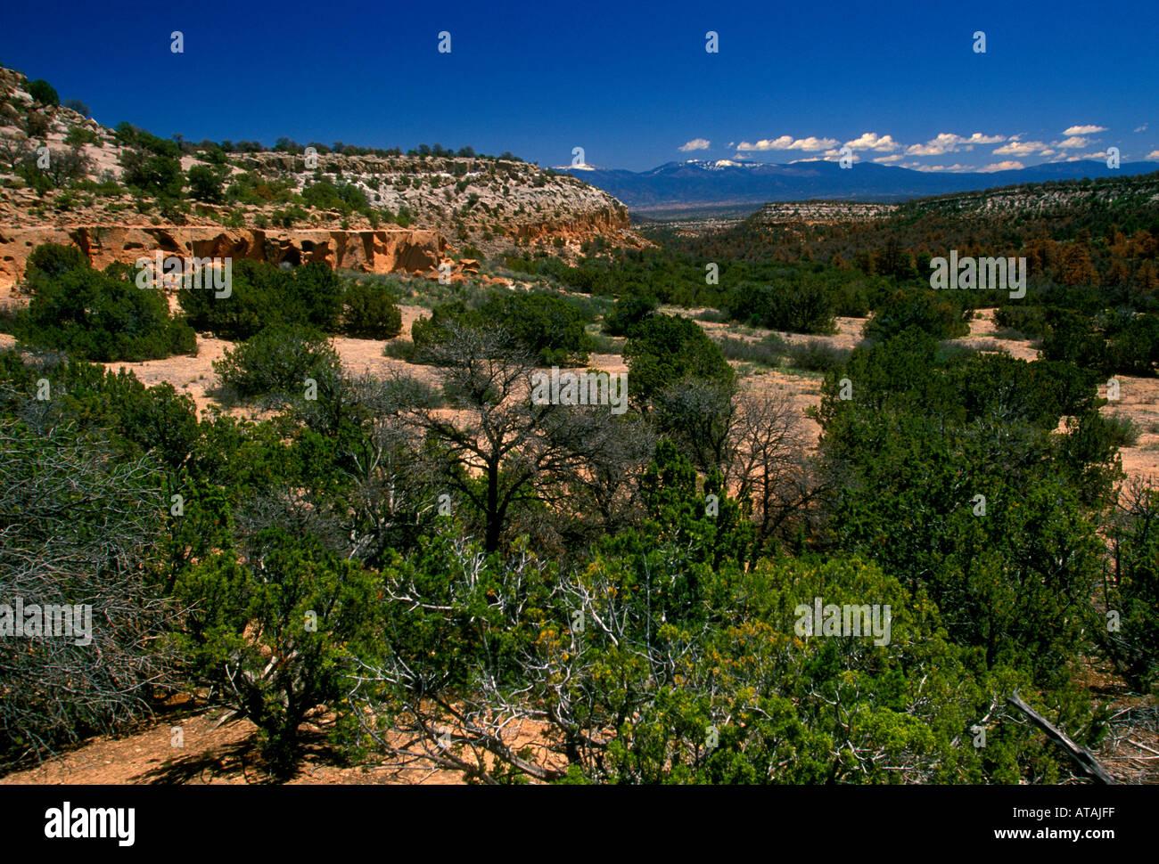 Tsankawi Prehistoric Sites, Bandelier National Monument, Sandoval County, New Mexico, United States, North America Stock Photo