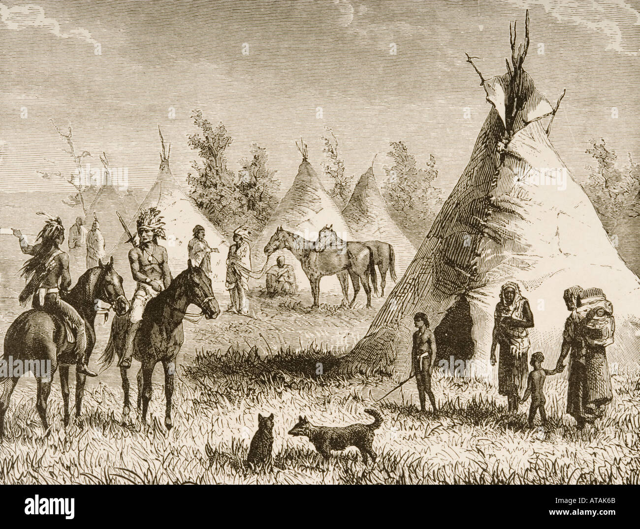 Sioux Indians Tepee Stock Photos & Sioux Indians Tepee Stock