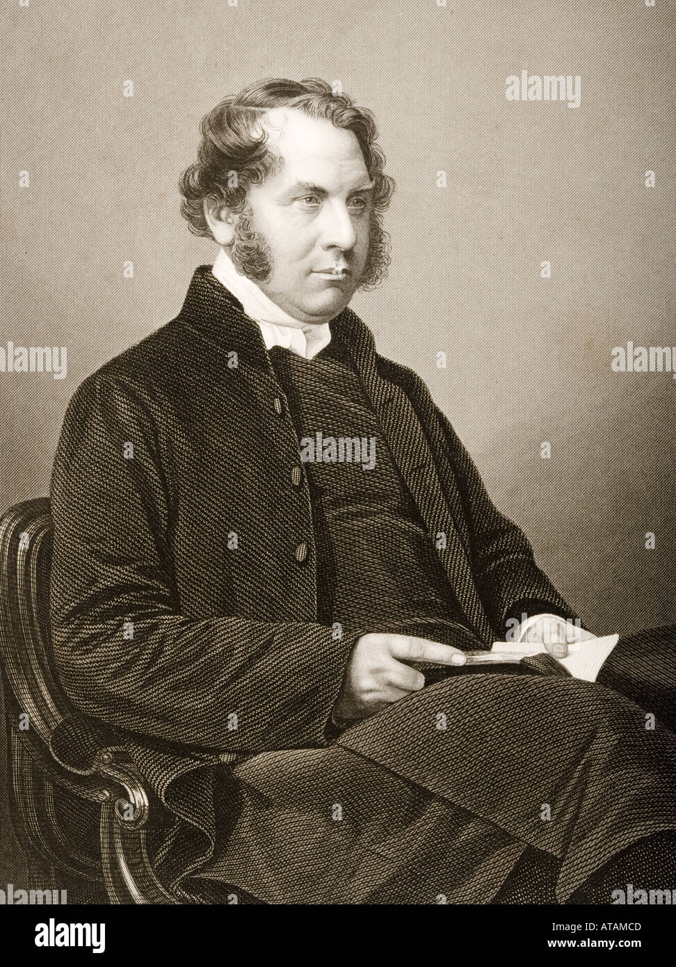 Henry Montagu Villiers Lord Bishop of Carlisle 1813 1861 - Stock Image