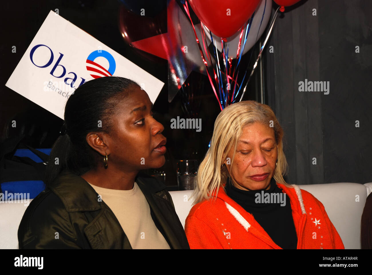 Supporters of Presidential candidate Senator Barack Obama at a watch party Sacramento CA February 5 2008 - Stock Image