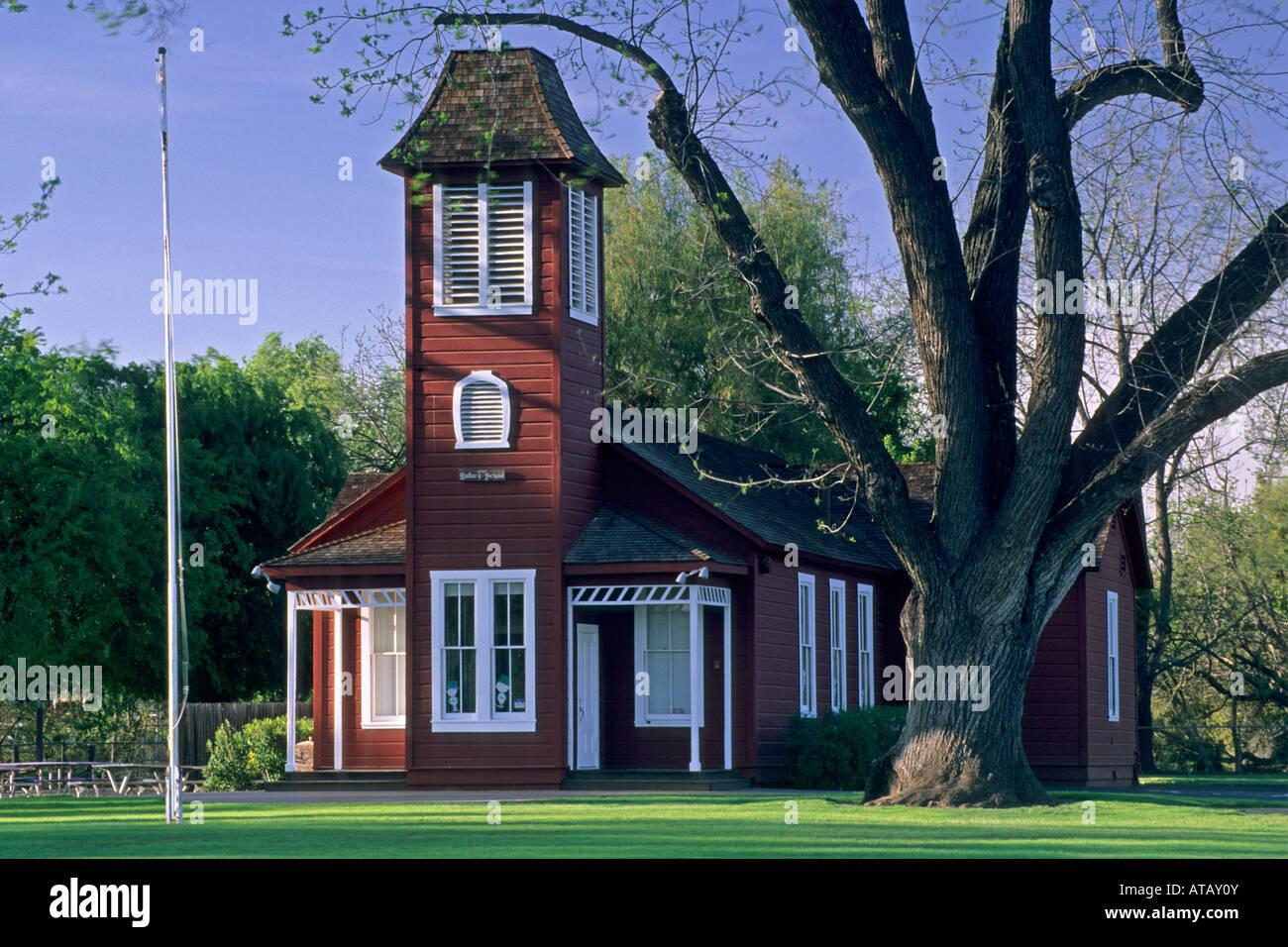 Old Ballard School house est 1882 Ballard Santa Barbara County California - Stock Image