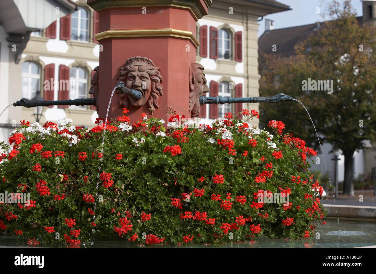 Niklaus Thut fountain, Zofingen, Switzerland - Stock Image