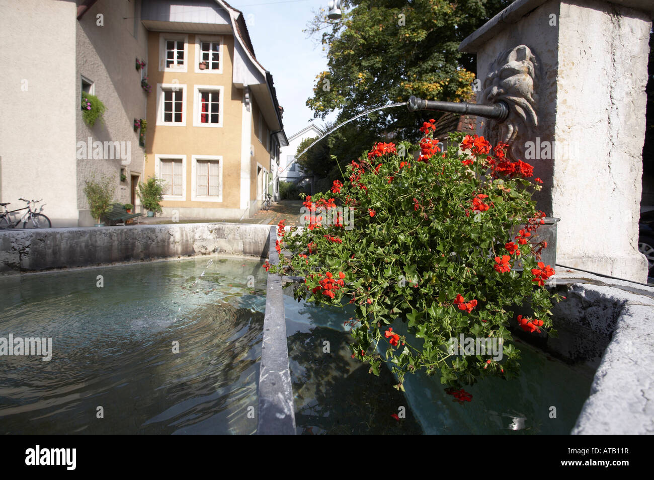 Letzigasse Fountain, Zofingen, Switzerland - Stock Image