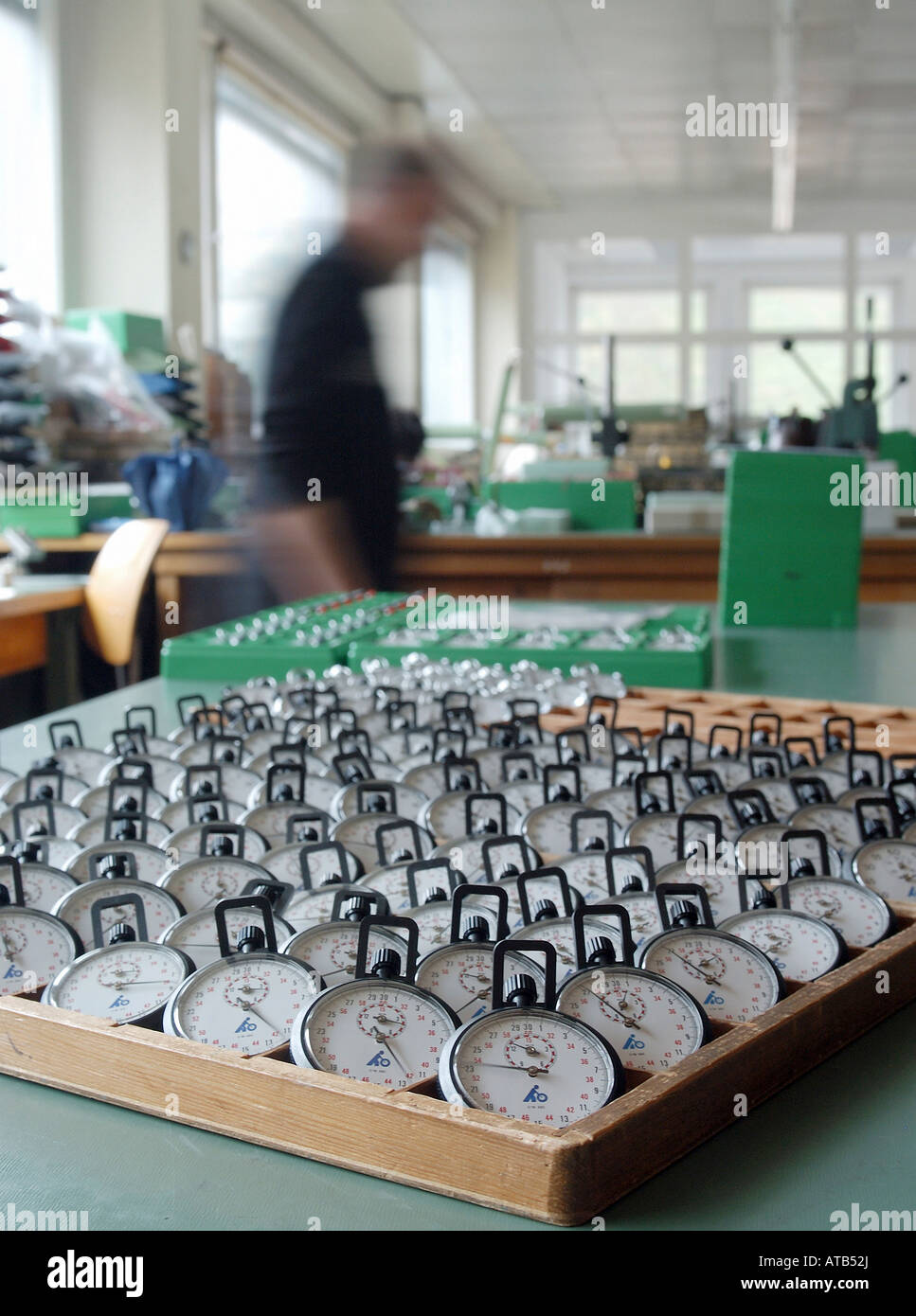 Stopwatches at ADOLF HANHART GmbH & Co., Germany - Stock Image
