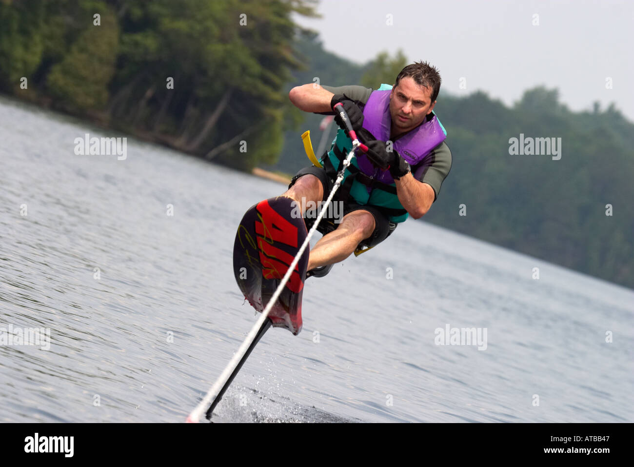 man waterskiing extreme sport air chair stock photo 1686342 alamy