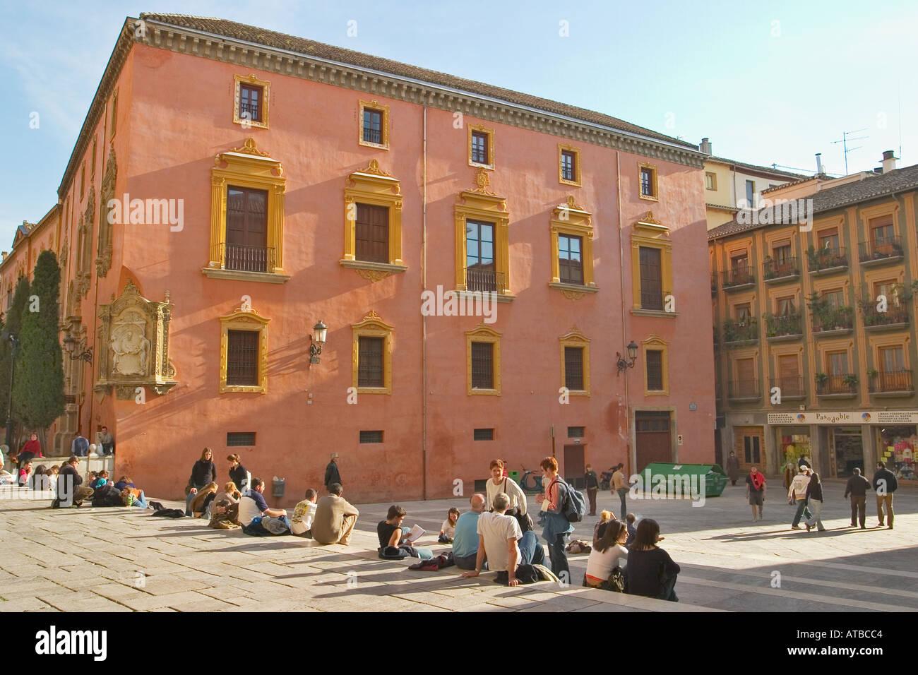 Granada Spain Universidad Vieja y Curia Old University and Curia - Stock Image