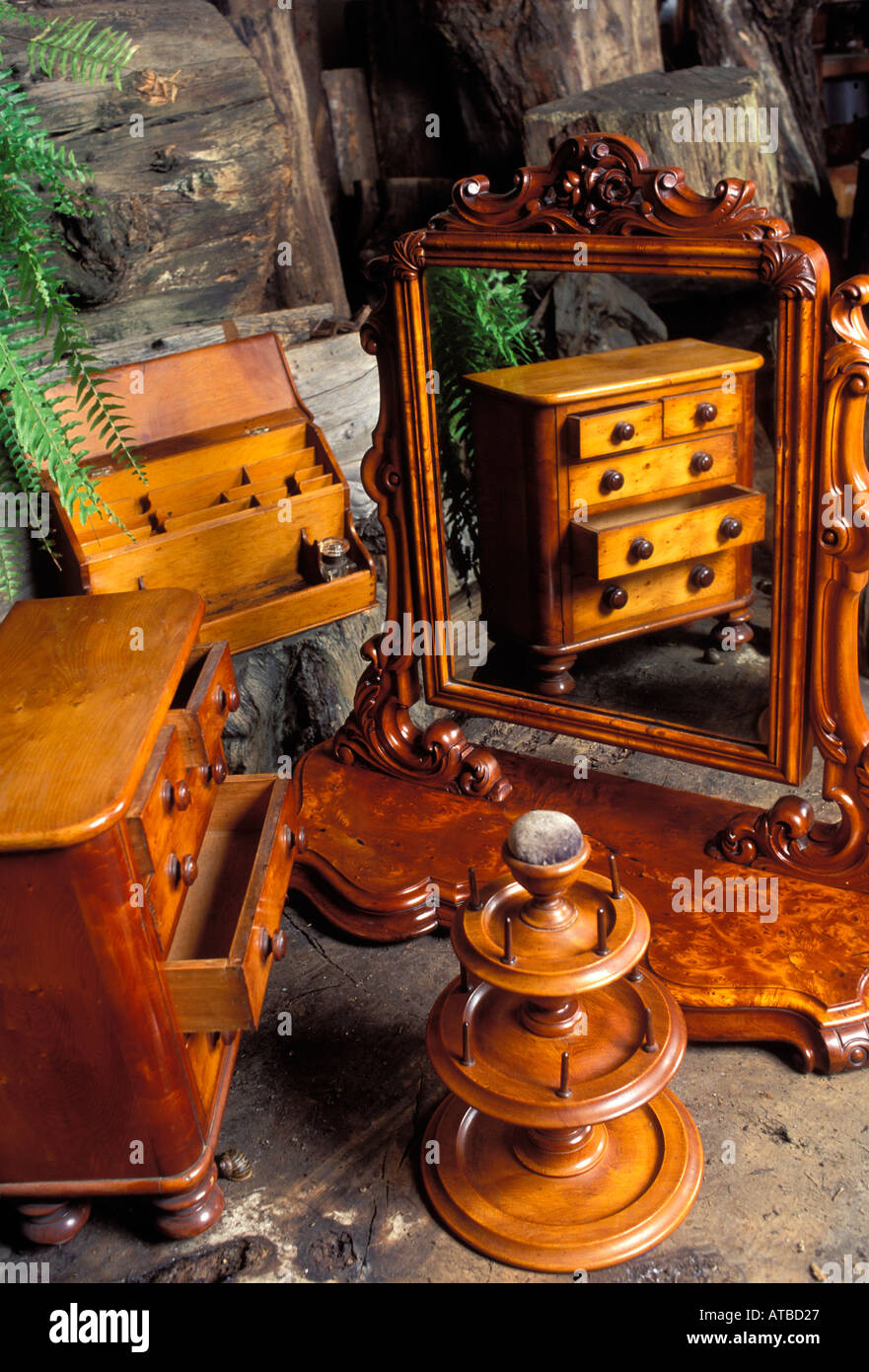 Tasmania Australia Antique Huon Pine Furniture. Photo By Brucre Miller