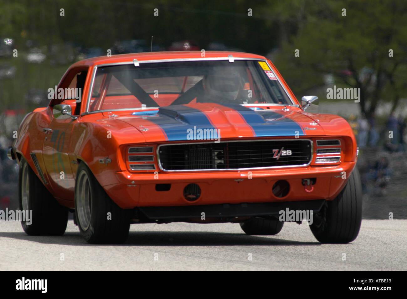 Camaro chevy camaro 2004 : Richard Lind races his 1969 Chevrolet Camaro at the SVRA Vintage ...