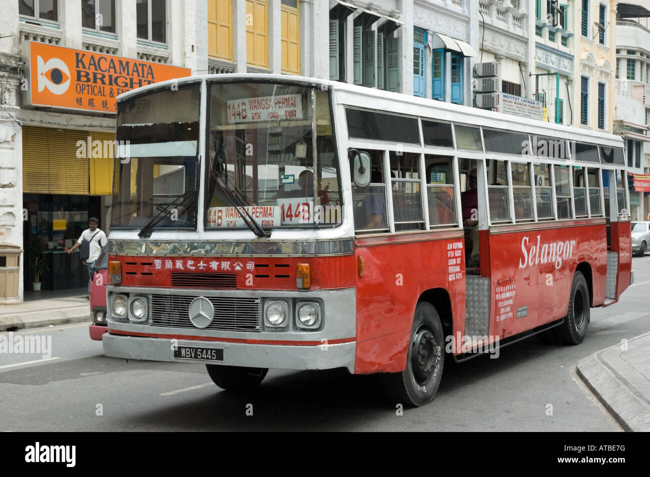 Asian public transport: an old bus Stock Photo