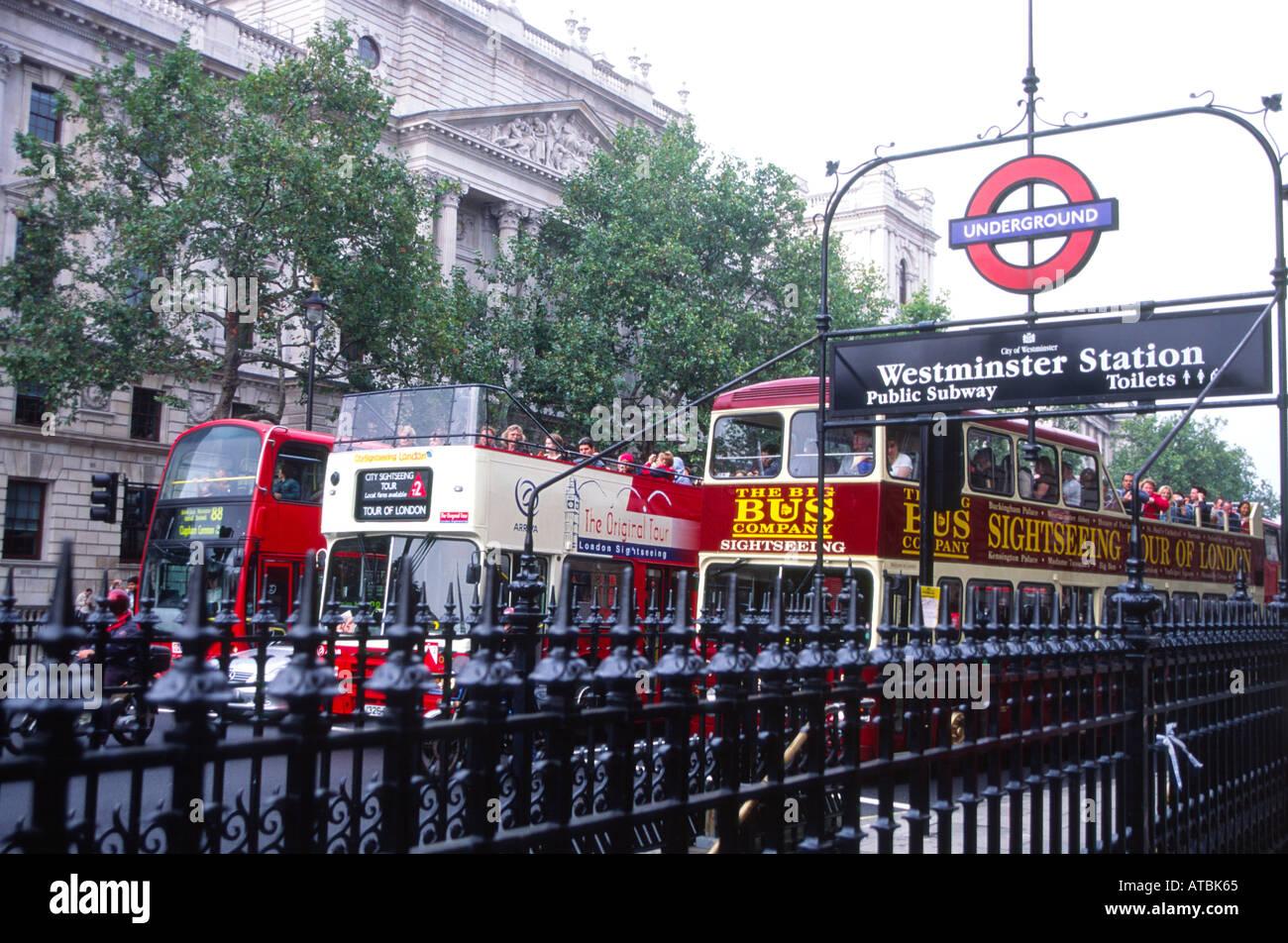 Public transport Westminster London England Stock Photo