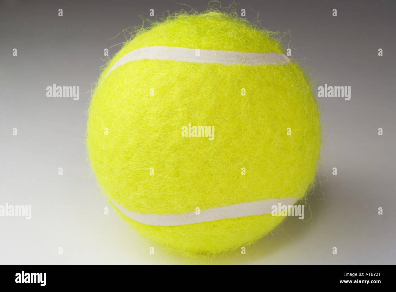 Tennis ball, close-up - Stock Image