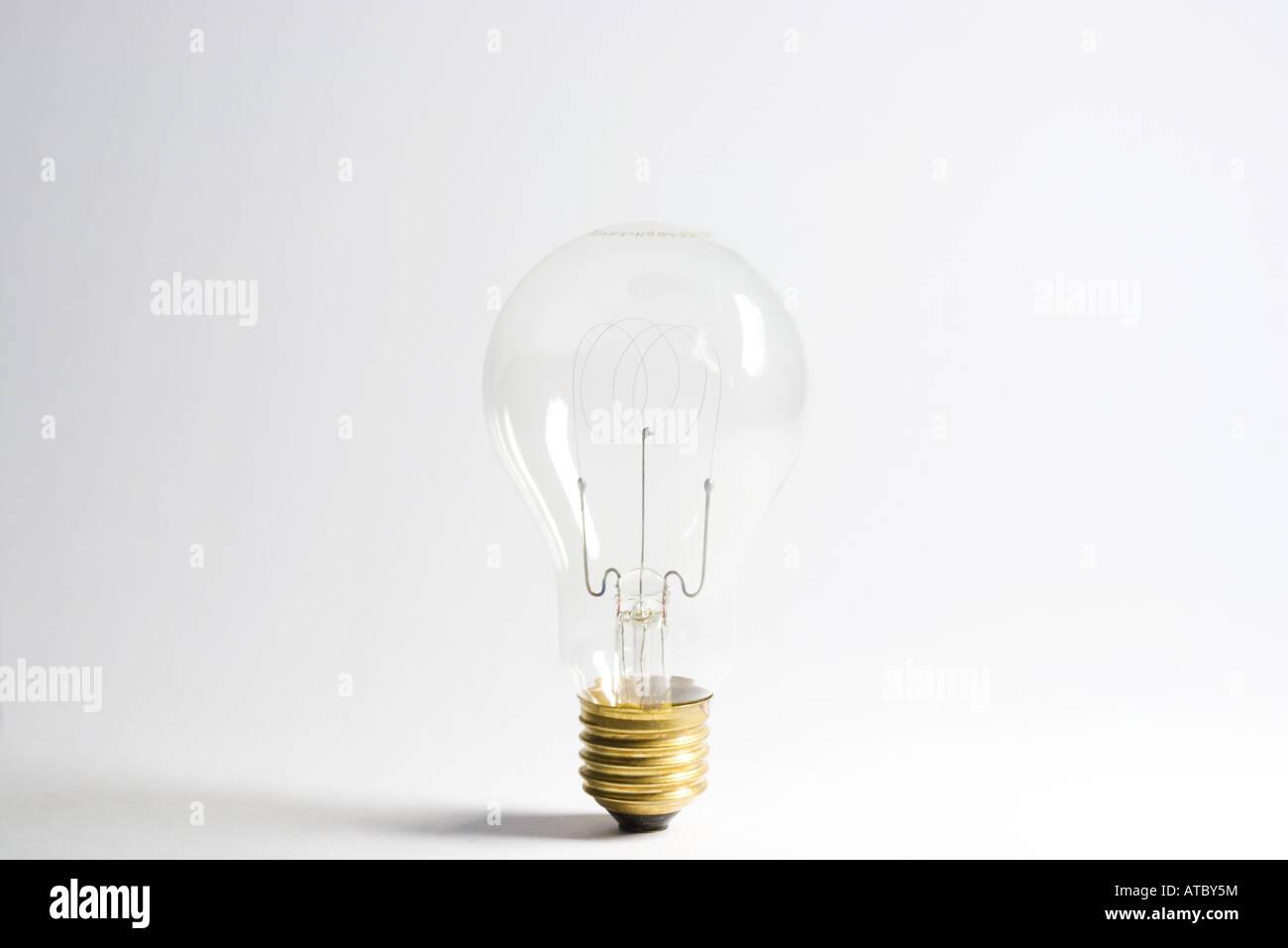 Light bulb, close-up - Stock Image