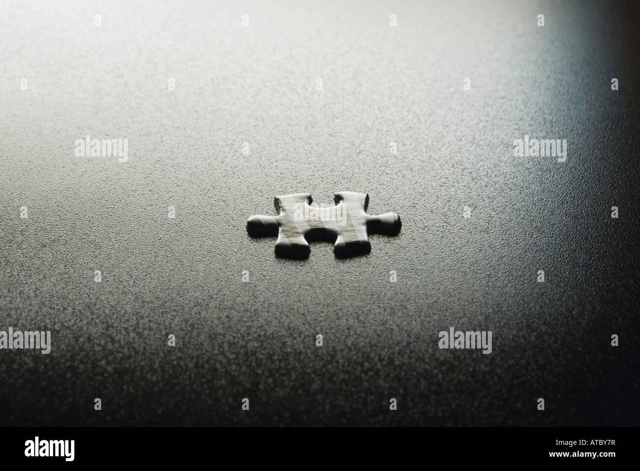 Puzzle piece, close-up - Stock Image