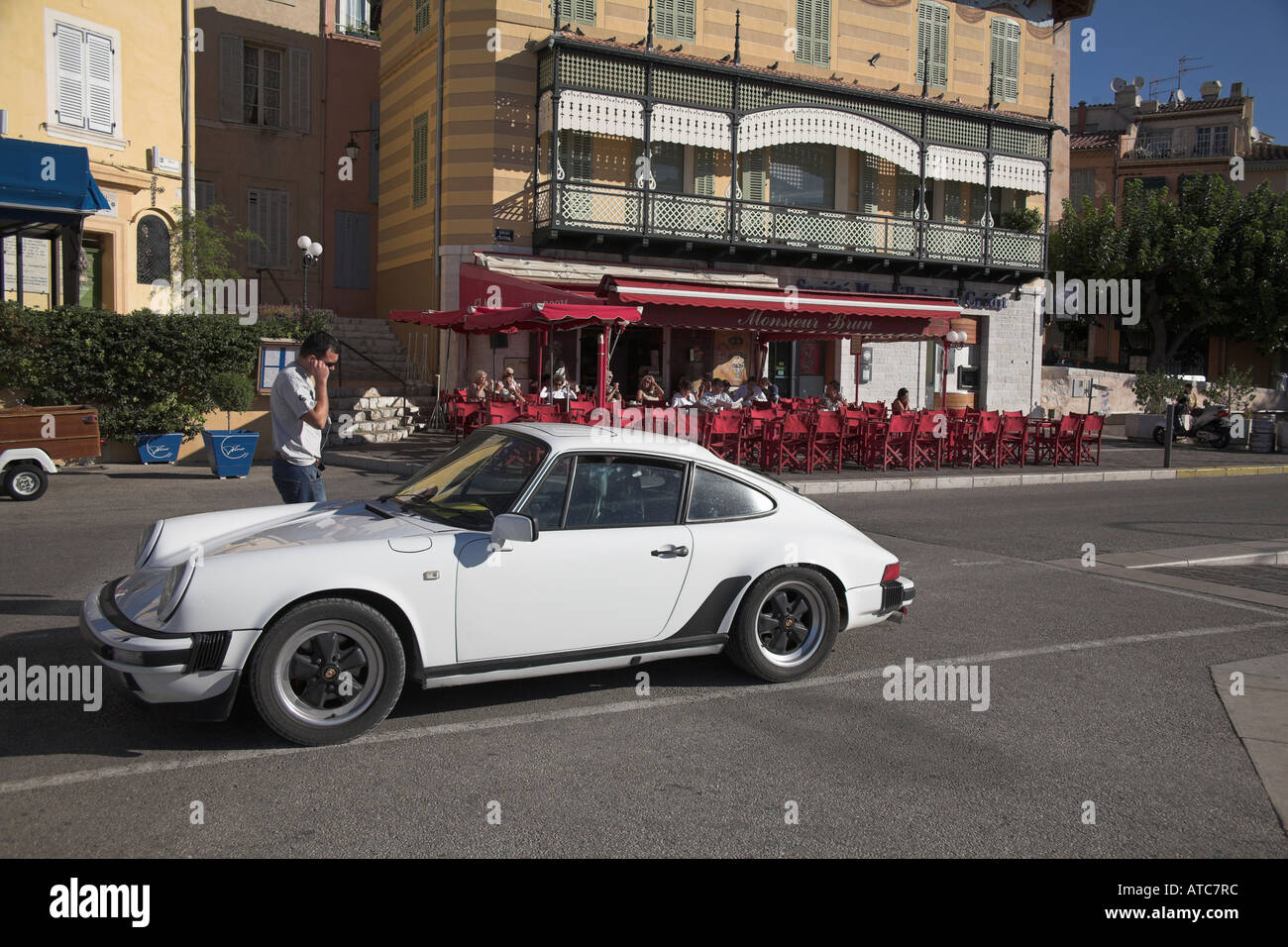 Stock photograph of Porsche 911 parked at the harbour Cis. Man ...
