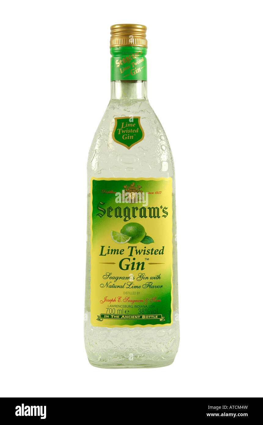 Seagram s Lime Twisted Gin bottle - Stock Image