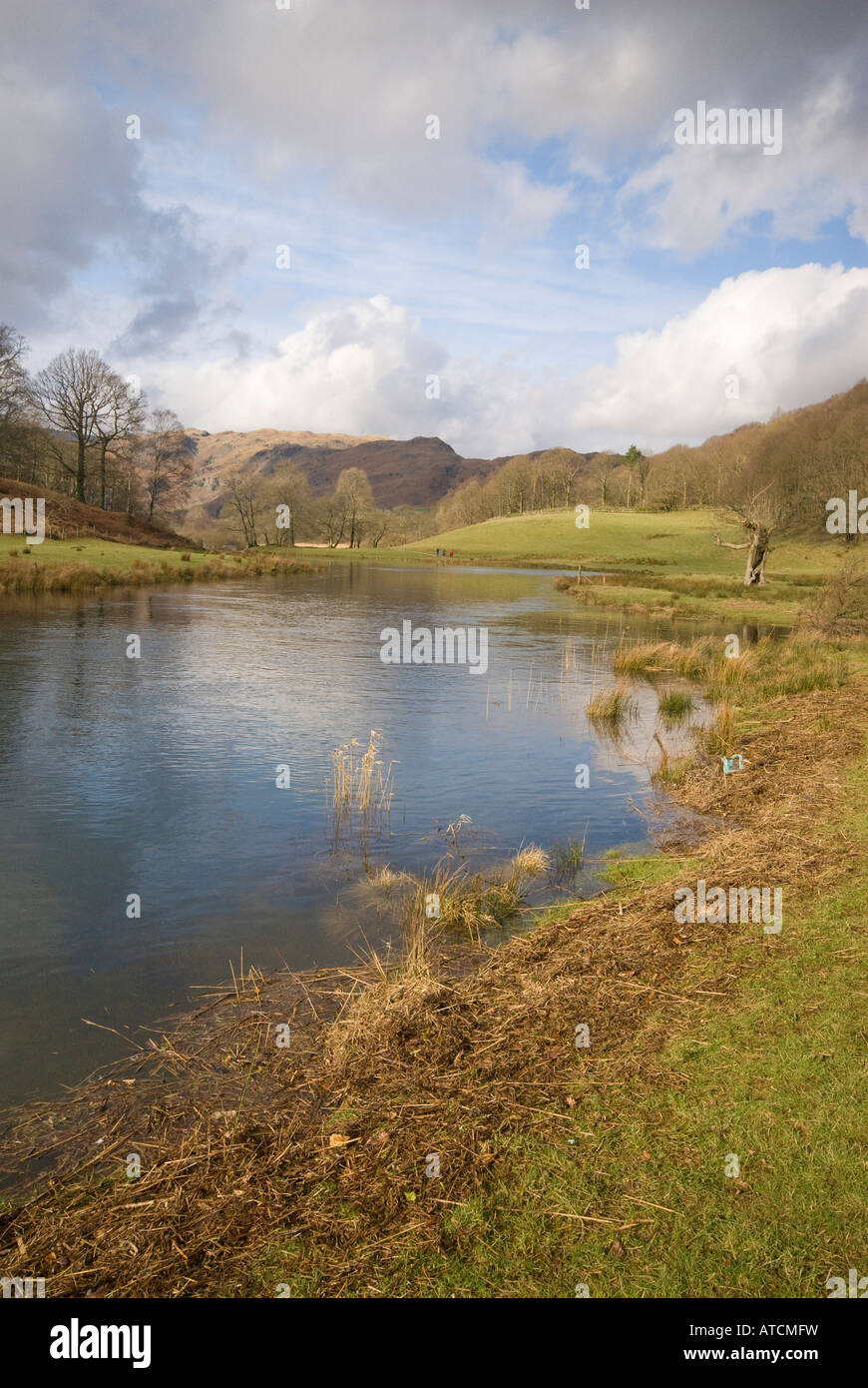 River Brathay and Elterwater Tarn - Stock Image