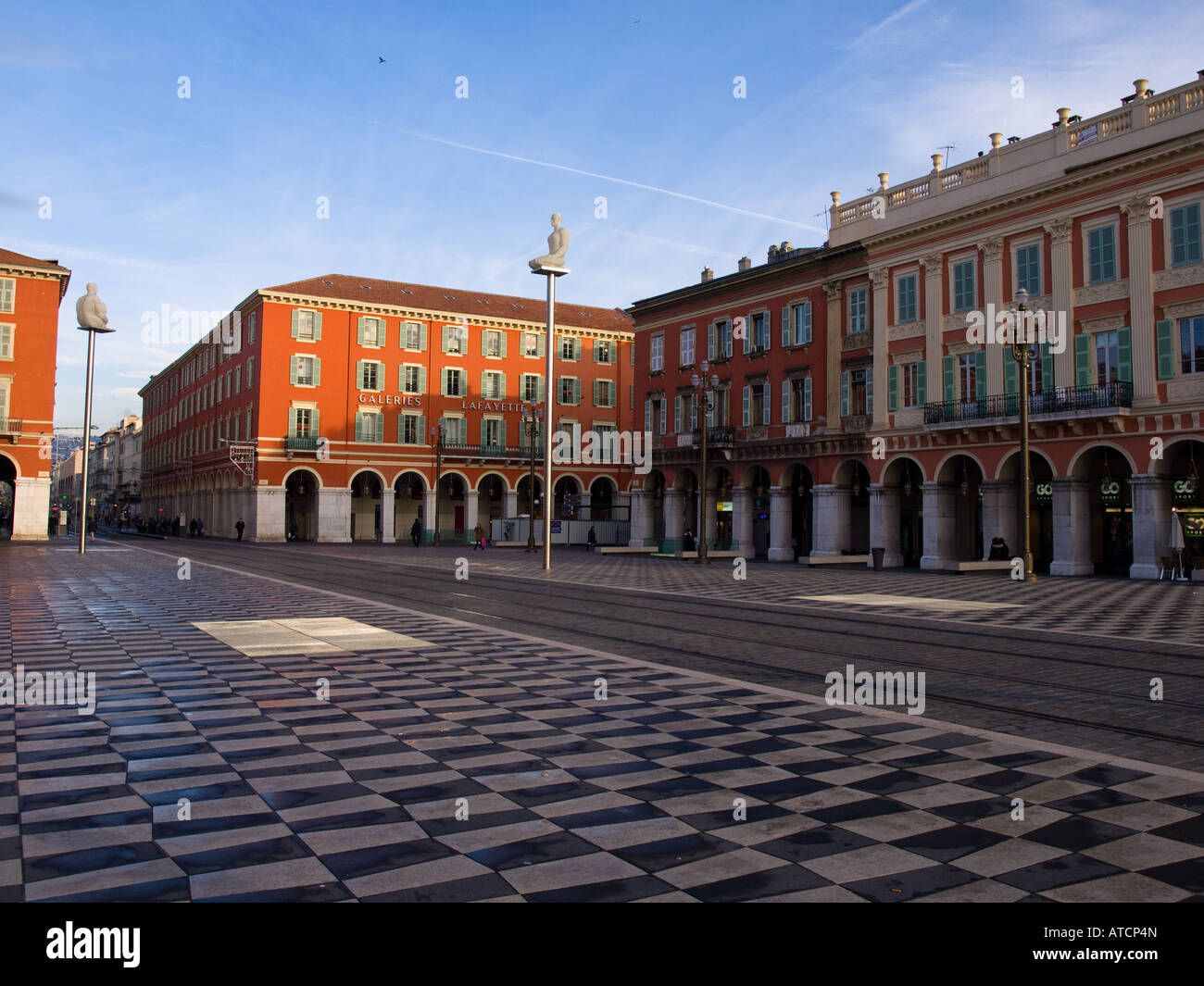 Place Masséna in Nice, France. - Stock Image