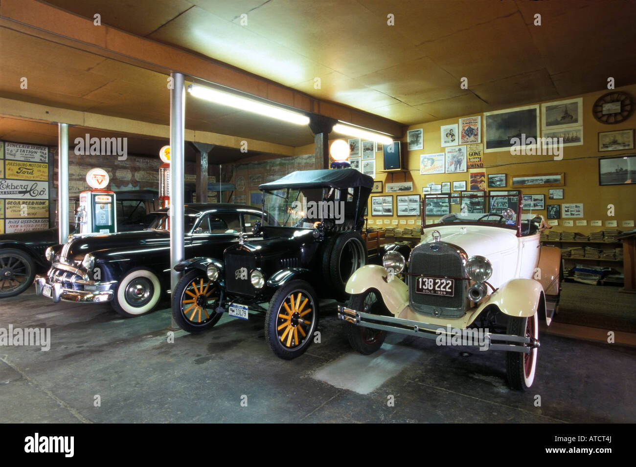 Antique Cars Inside The Old Ford Garage Julesburg Colorado
