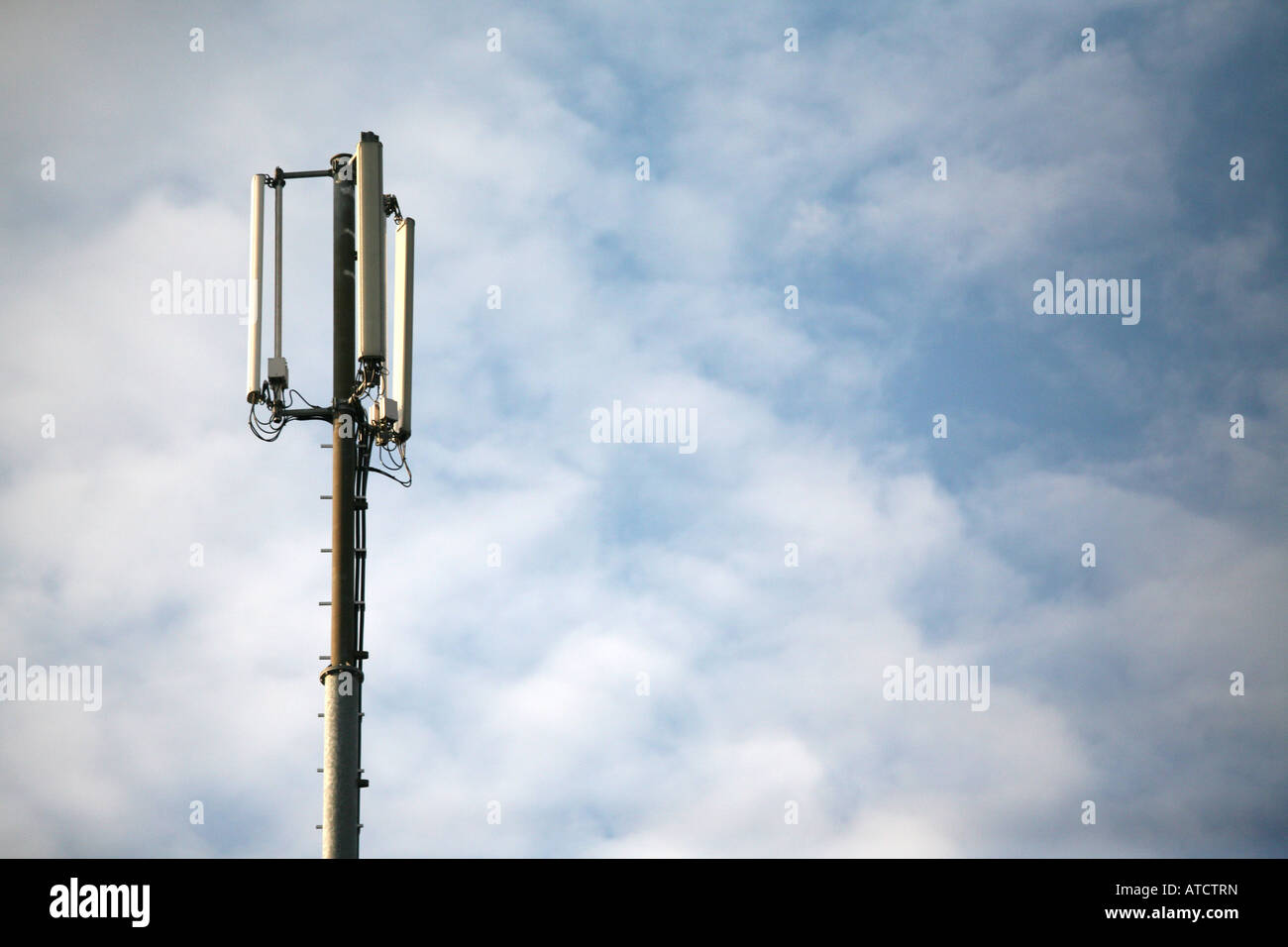 Mobile phone antenna - Stock Image