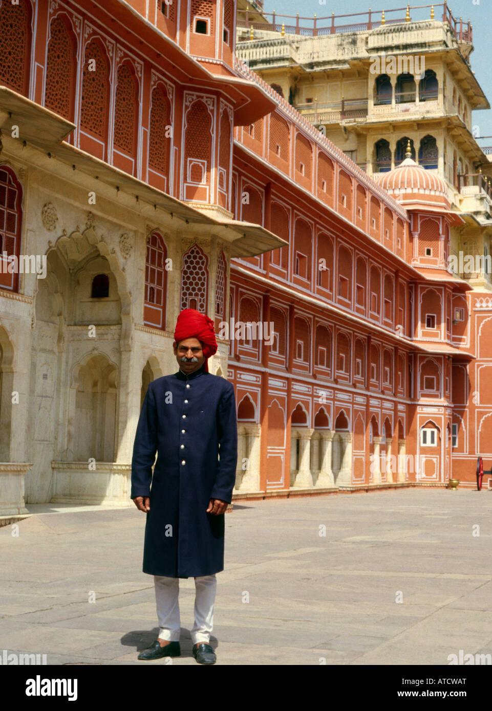 palace guard at city palace, Jaipur india Stock Photo