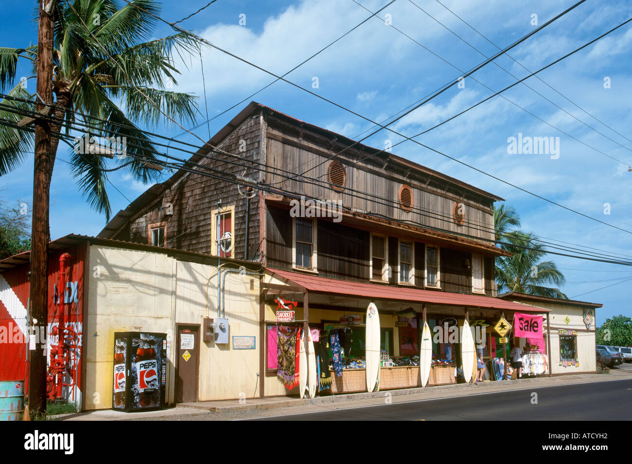 Surf Shop in Haleiwa, North Shore, Oahu, Hawaii, USA - Stock Image