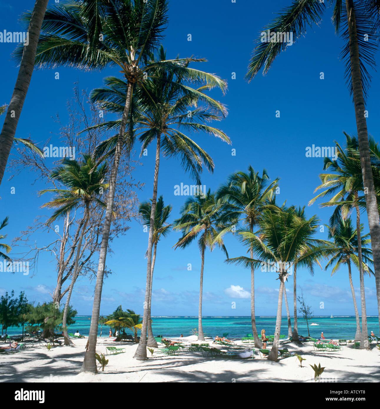 Bavaro Beach, Punta Cana, Dominican Republic, Caribbean - Stock Image