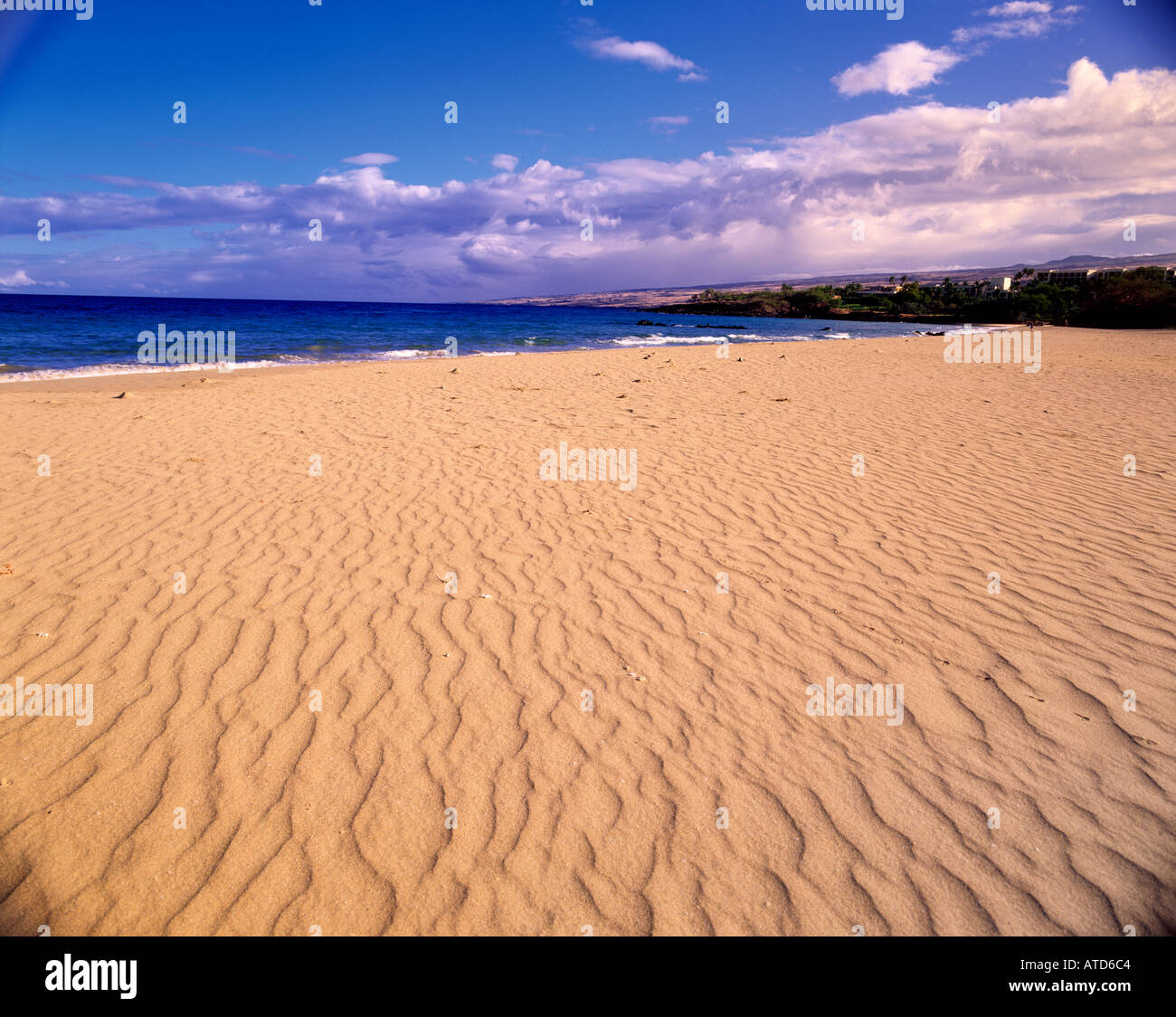 Expanse Of Golden Rippled Sand At Hapuna Beach State Park