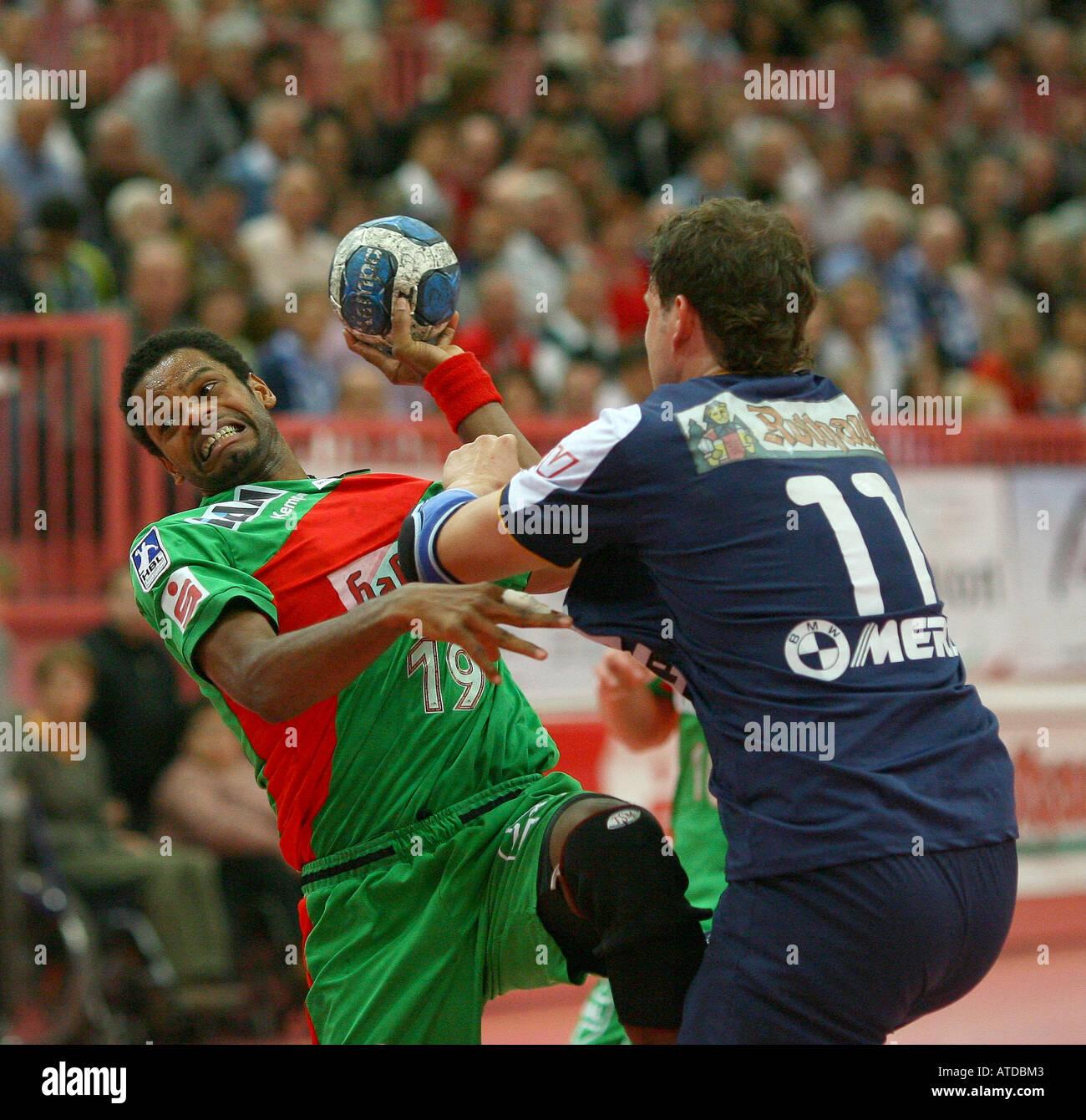 Joel Abati, SC Magdeburg - Stock Image