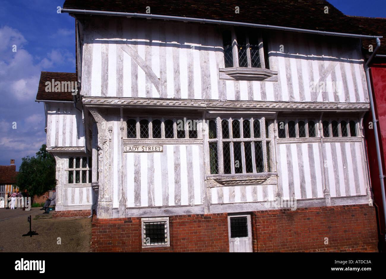 Guildhall Lady Street Lavenham Suffolk - Stock Image