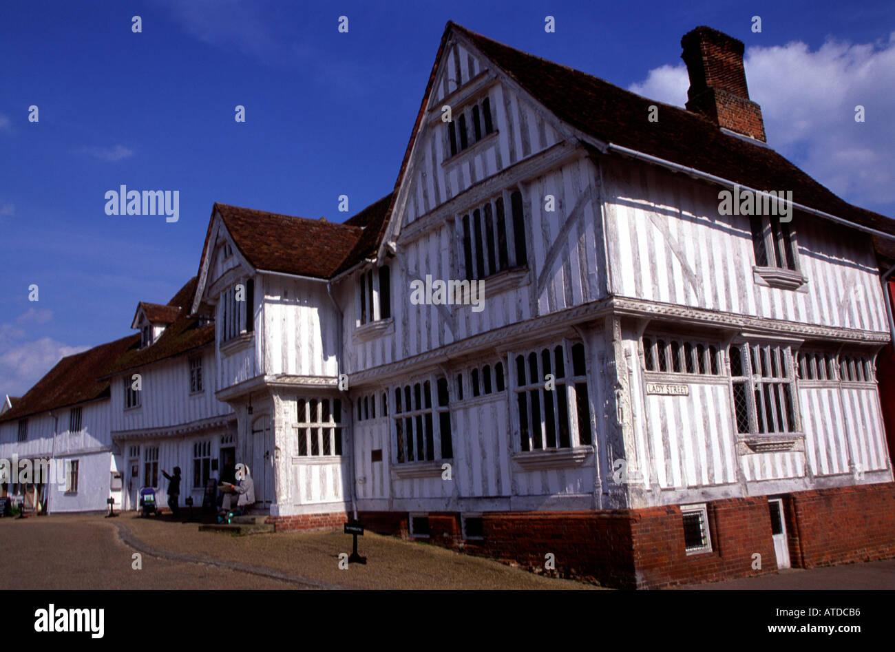 Lady Street Guildhall Lavenham Suffolk - Stock Image