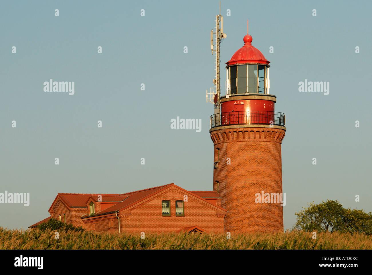Old lighthouse in Bastorf near Kuehlungsborn, Western-Pomerania, Germany Stock Photo
