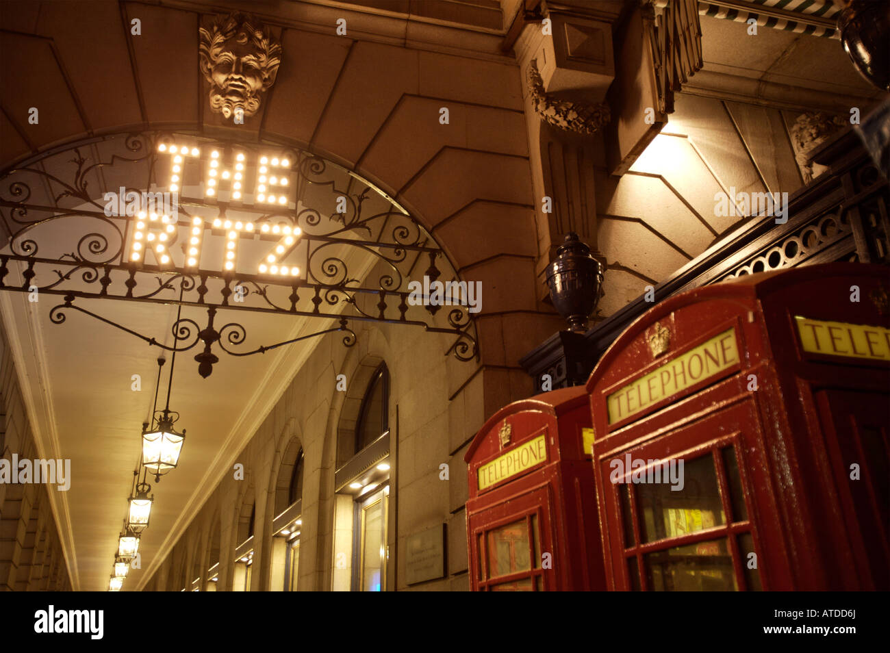 The Ritz Hotel,Piccadilly,London - Stock Image