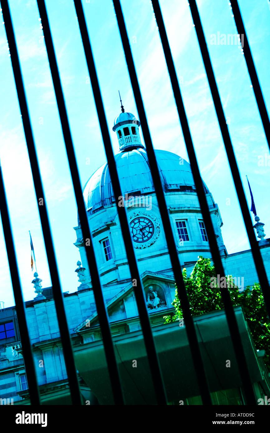 Irish government building in Dublin Ireland Stock Photo