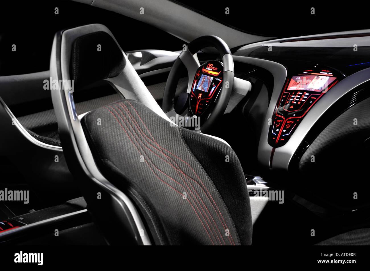 Kue Futuristic Concept Car Interior Stock Photo 16283686 Alamy