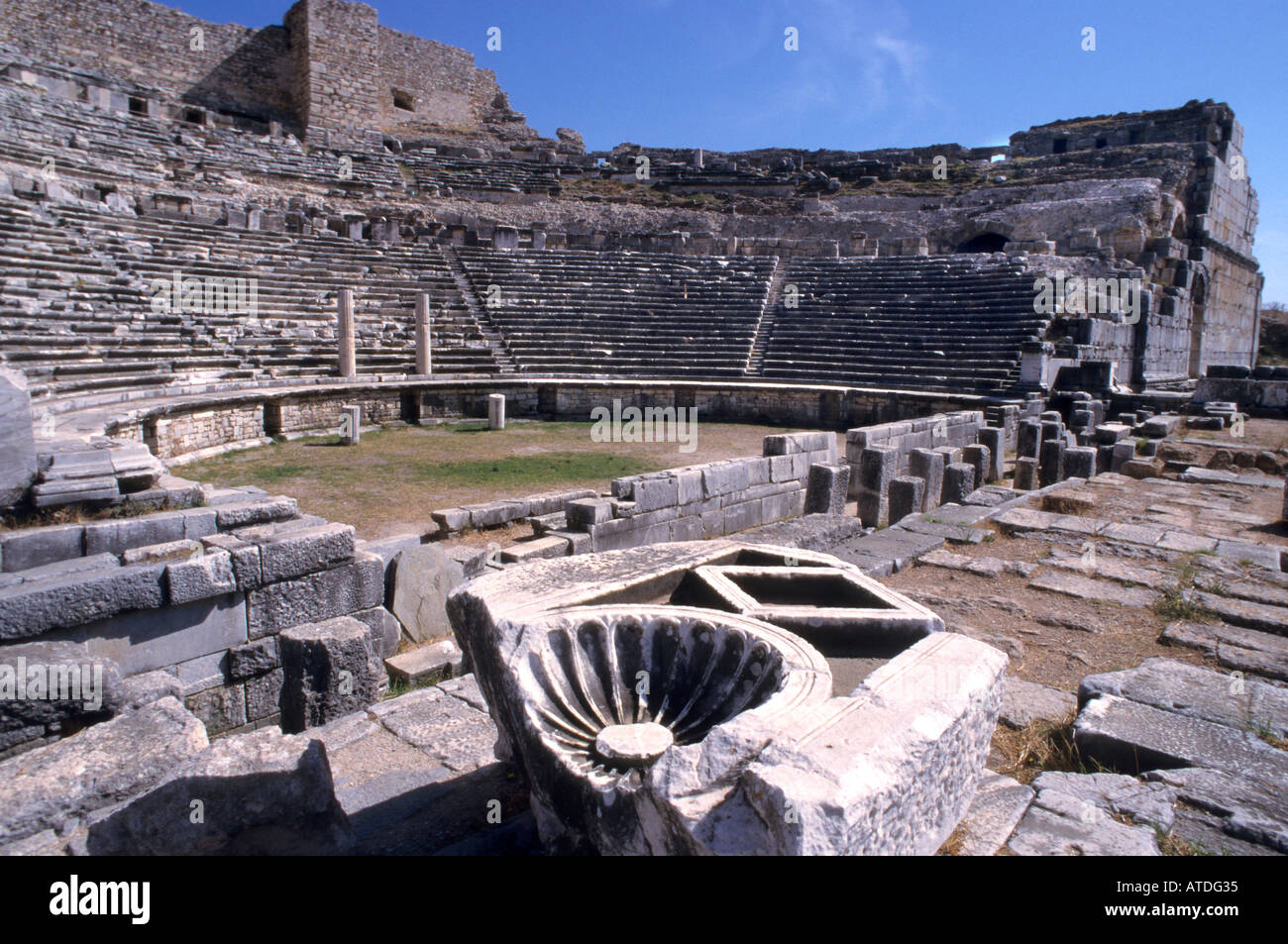 Miletus Roman Theatre Ephesus Turkey Turkish Greek Greece Stock Photo