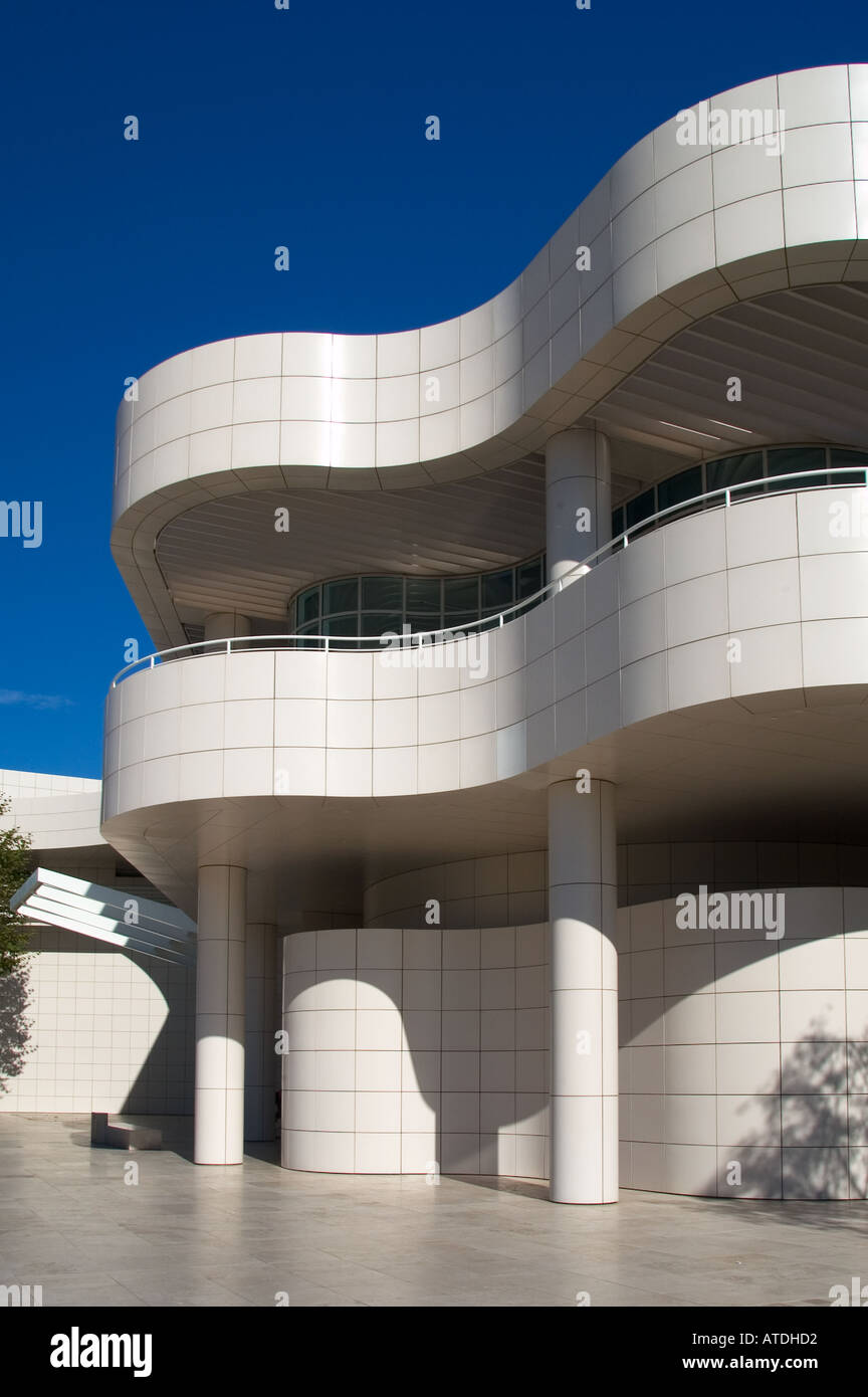 Modern Architecture Of The Getty Centre Los Angeles California Stock