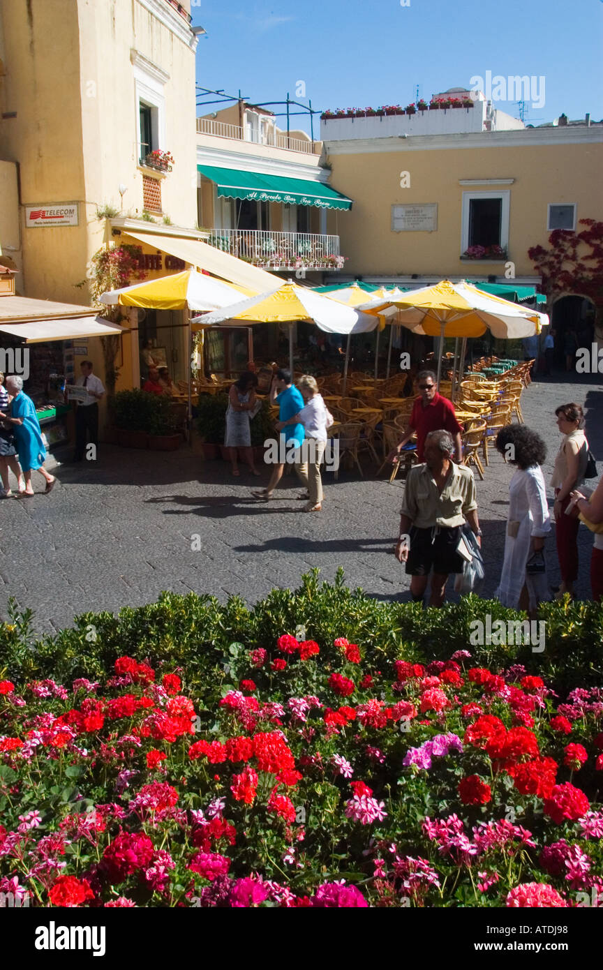 Shopping Capri Italy - Stock Image
