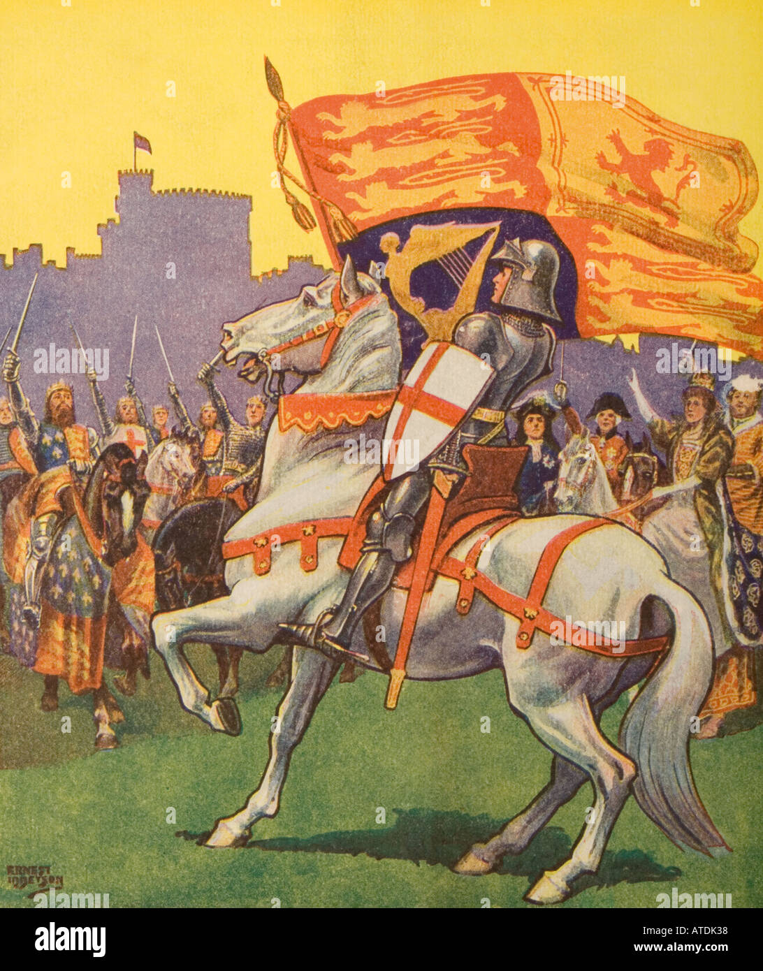 St George with Royal Standard - Stock Image