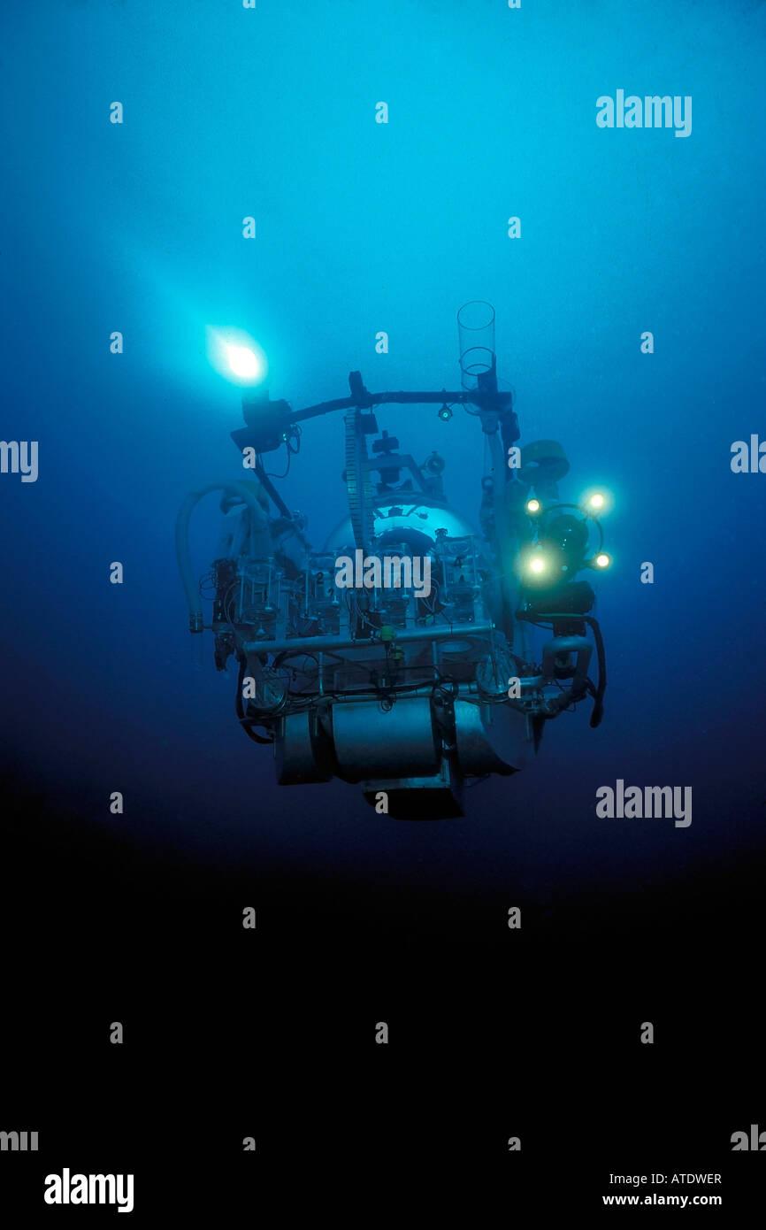 Johnson Sea Link submarine Caribbean Atlantic Ocean - Stock Image