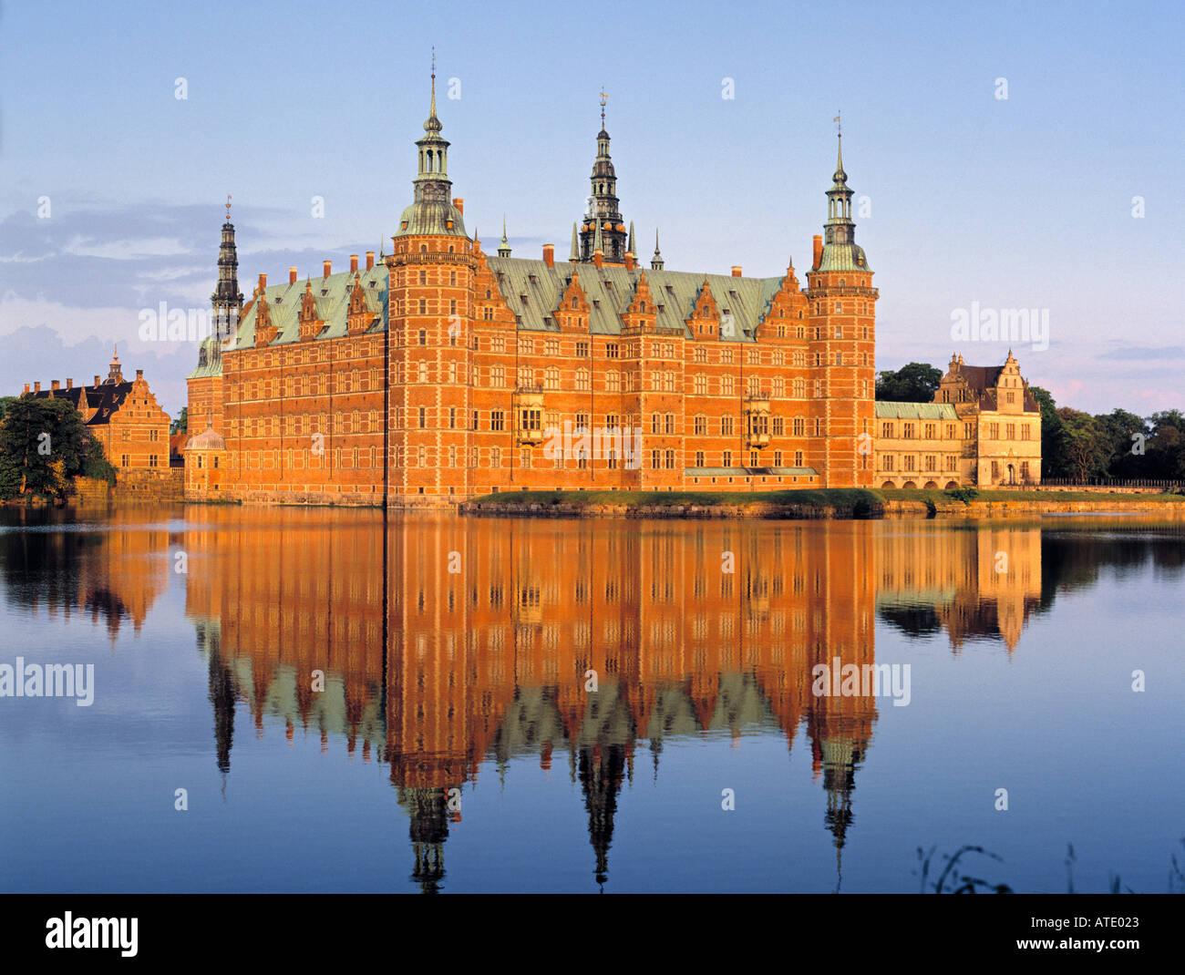 Schloss Frederiksborg, Sjaelland, Denmark - Stock Image