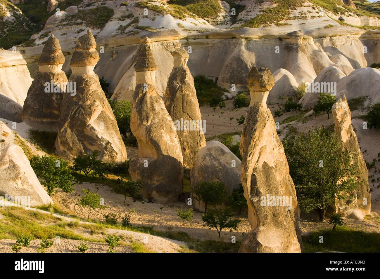 Rock formations in Capadoccia, Turkey - Stock Image